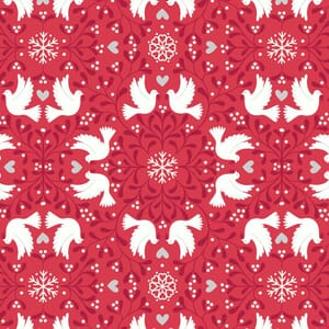 Lewis and Irene Hygge Glow in The Dark Scandi Dove Red C74.3