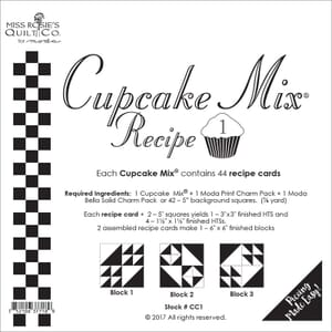 Cupcake Mix Recipe 1 By Miss Rosies Quilt Co For Moda
