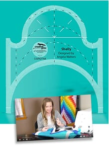 Creative Grids Machine Quilting Tool Shelly By Angela Walters