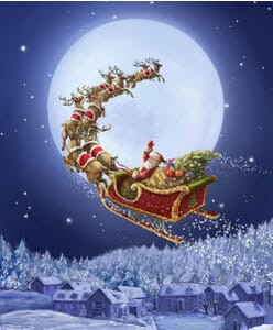 Christmastime Is Here To All A Goodnight Fabric Panel