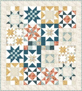 Cider Quilt Kit Stars for Carter by Basic Grey for Moda Fabric
