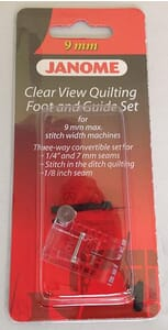 Janome Clear View Quilting Foot and Guide Set - Category D For 9mm Max Stitch Width Machines