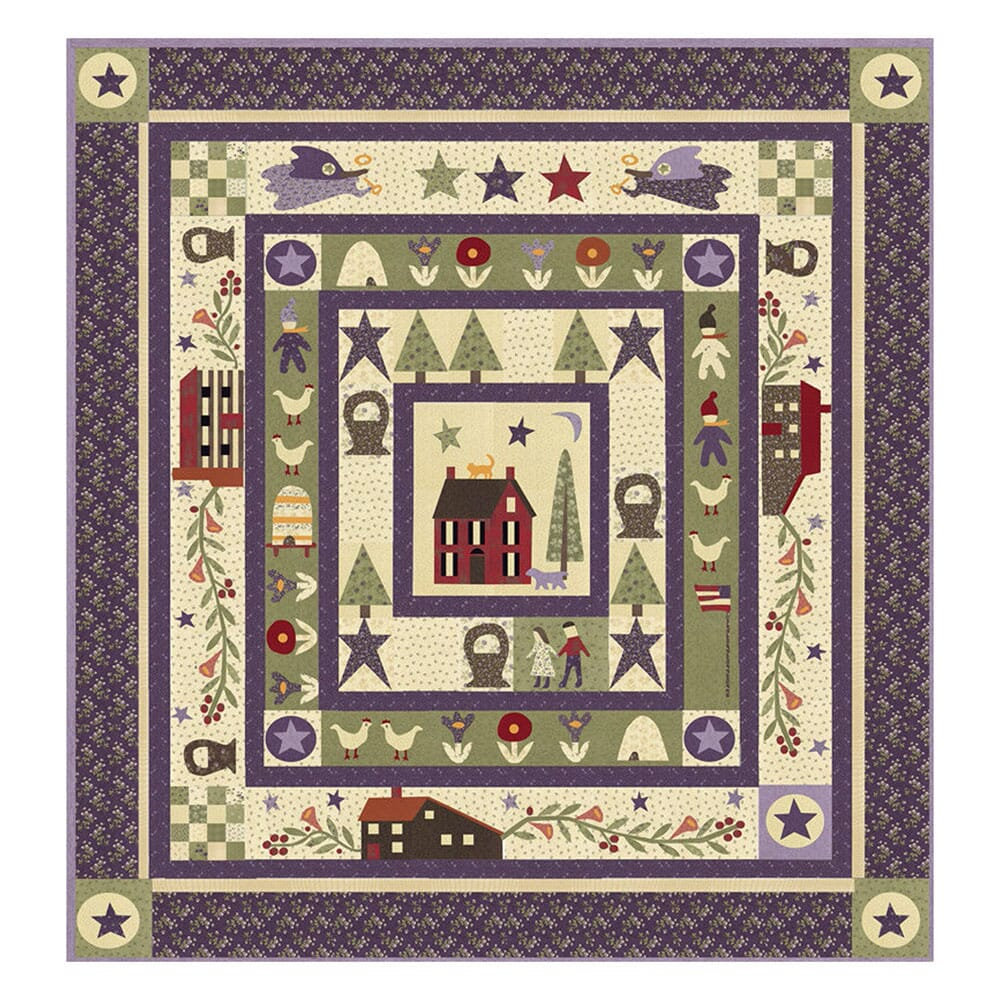 Clover Meadow Quilt Kit by Jan Patek Quilts For Moda