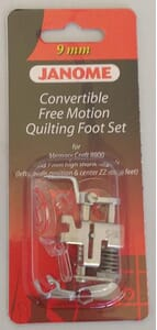 Janome Convertible Free Motion Foot Set - Category C & D