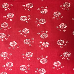 Cutzie Cats Red Wool Ball Fabric