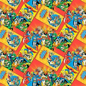 DC Comics Character Book Covers Quilting Fabric