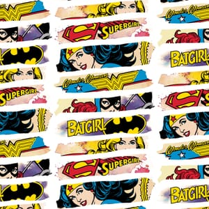 DC Comics Heroines White Fabric