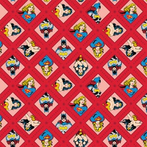 DC Super Woman Red Fabric