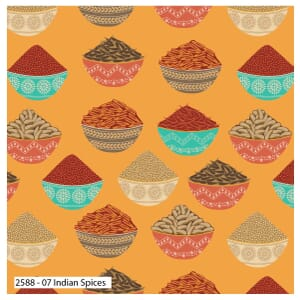 Delhi by Debbie Shore Indian Spices Yellow Quilting Fabric