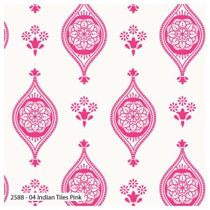 Delhi by Debbie Shore Indian Tiles PinkQuilting Fabric