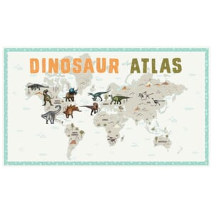 Age of the Dinosaurs Fabric Panel 112x65cm