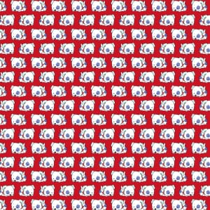 3 Wishes Fabric Dog Days Puppy Red