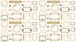 Small Image of Downton Abbey Fabric Downton Quilt Labels