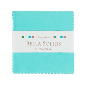 Small Image of Moda Fabric Bella Solids Charm Pack Duck Egg Blue