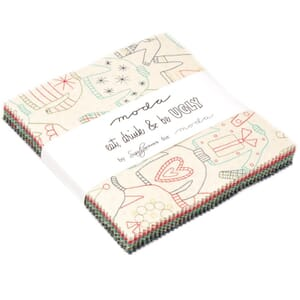 Small Image of Moda Fabric Eat Drink And Be Ugly Charm Pack