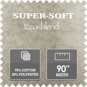 Super Soft Recycled Wadding, 70/30% Cotton/Polyester, 90 Inch Wide