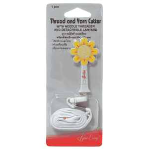 Thread Cutter Daisy With Needle Threader and Detachable Lanyard