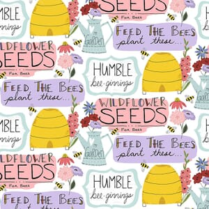 3 Wishes Feed the Bees Words Multi