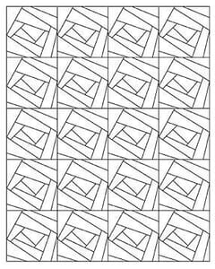 Small Image of Foundation Piecing by the Yard Crazy for You Blocks