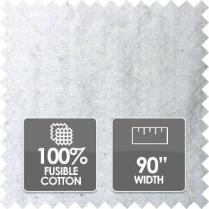 Fiberco Fusible 100% Cotton Wadding, 90 Inches Wide