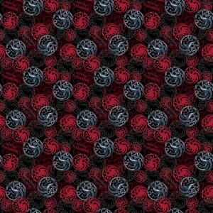 Game Of Thrones House Targaryen Fabric