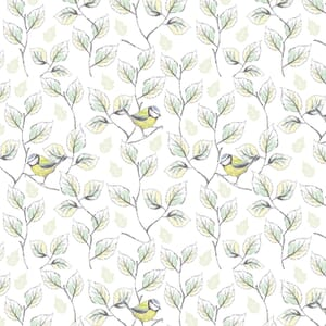 Garden Birds By Debbie Shore Bird Vines White