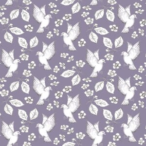 Garden Birds By Debbie Shore Birds and Flowers Purple