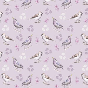 Garden Birds By Debbie Shore Sparrow and Starling Multi