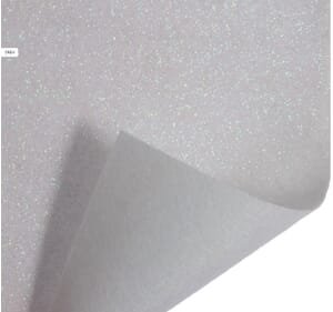 Small Image of Glitter Felt Fabric Sheet White 23cm x 30cm