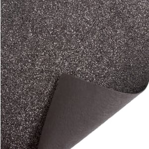 Glitter Felt Fabric Sheet Pewter 23cm x 30cm