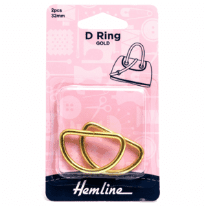 D Rings 32mm Gold 2 Pieces