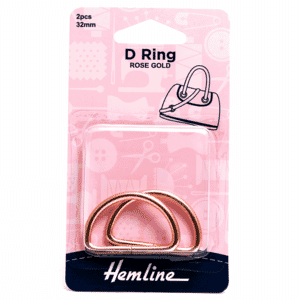 D Rings 32mm Rose Gold 2 Pieces