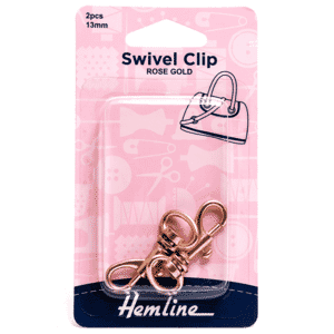 Swivel Clip 13mm Rose Gold 2 Pieces