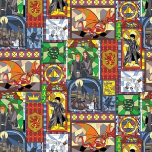 Harry Potter Fabric Stained Glass Characters