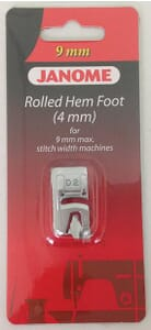 Janome Hemmer Foot (4mm) - Category D For 9mm Max Stitch Width Machines