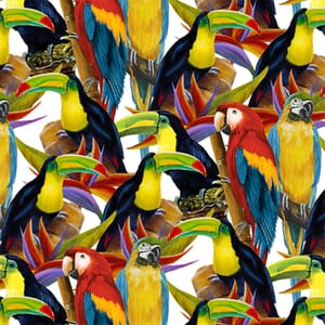 Henry Glass Fabric Birds in Paradise 4706-288
