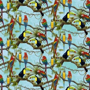 Henry Glass Fabric Birds in Paradise 4706-289