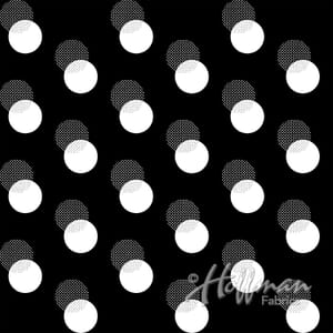 Base Image of Hoffman Sparkle and Fade Black Quilting Fabric 3902-487