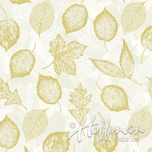 Base Image of Hoffman Can't Stop Falling Yellow Quilting Fabric 3902-593