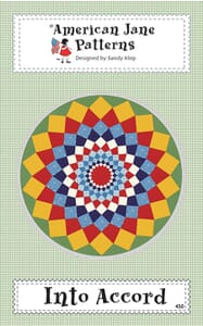 American Jane Patterns Into Accord Circle Quilt Pattern