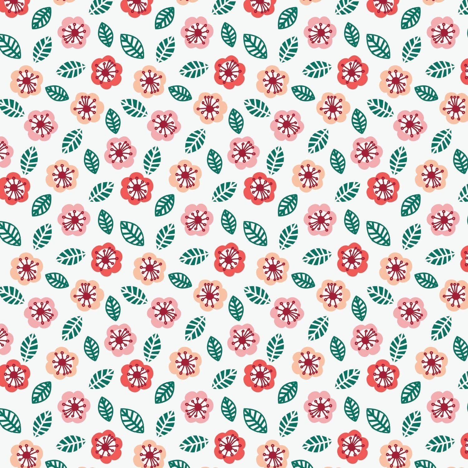 Jungly Childrens Fabric Floral White
