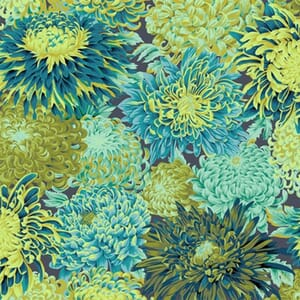 Kaffe Fassett Fabric Japanese Chrysanthemum Forest