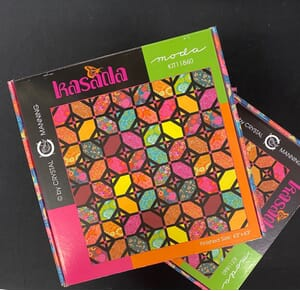 Kasada Fanciful Floor Quilt Kit by Crystal Manning for Moda Fabric