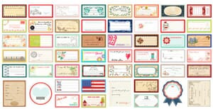Small Image of Moda Fabric Designer Labels Features 51 Quilt Labels