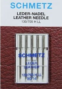 Schmetz Sewing Machine Needles Leather Size 90/14 Pack of 5