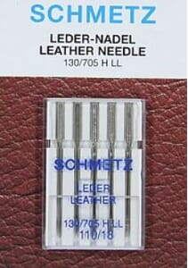 Schmetz Sewing Machine Needles Leather Size 110/18 Pack of 5