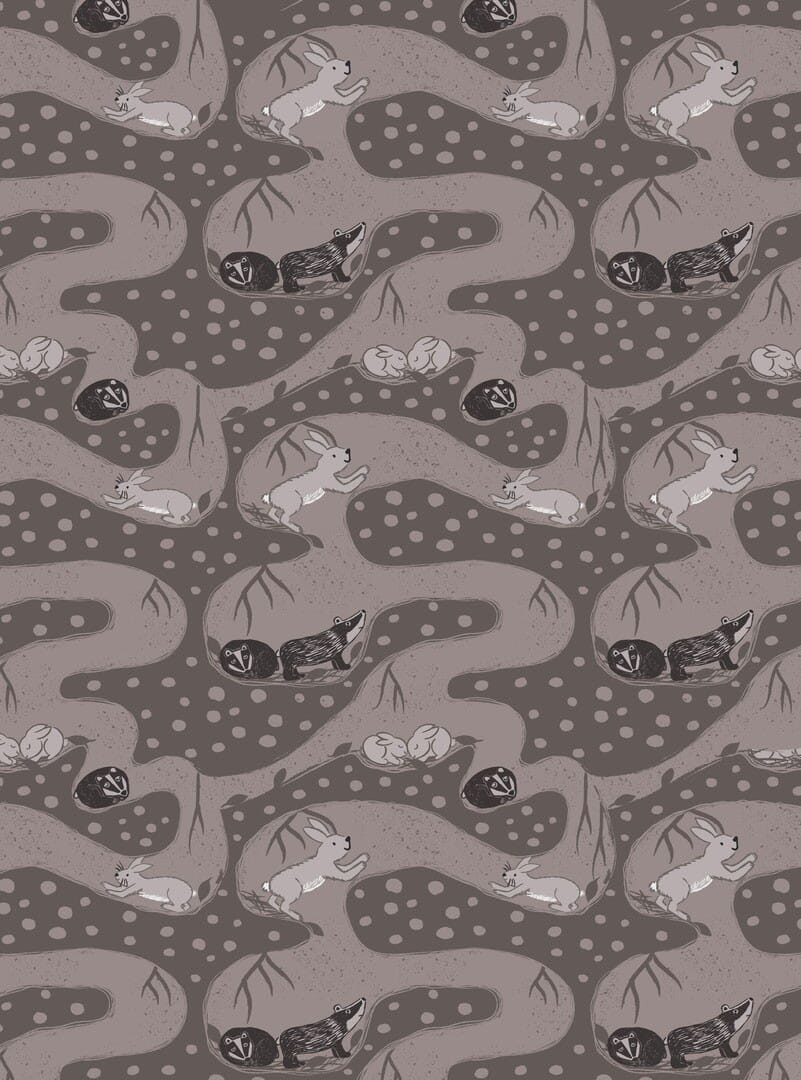 Lewis and Irene Fabric Enchanted Forest Bunny Tunnels on Earth