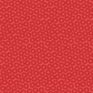 Lewis Irene New Forest Winter Red Star Fabric