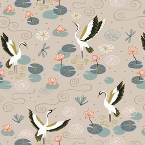 Lewis and Irene Jardin de Lis Heron Lake Natural Gold Metallic