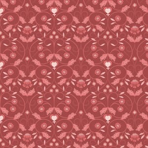 Lewis and Irene Michaelmas Floral Mono Red
